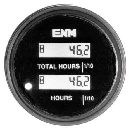 (DC Hour Meter, LCD, Round, Resettable)