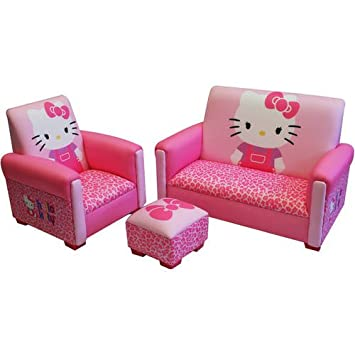 Superbe Hello Kitty Kids 3 Piece Toddler Furniture Set