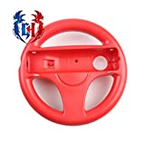 2Pcs Wii Wheel for Mario Kart 8, Wii Resort, and Other Nintendo Remote Steering Games - Mario Red (6 Colors Available)