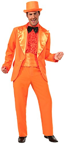[Forum Novelties Men's 50's Orange Prom Tuxedo, Orange, Standard] (Adult Orange Tuxedo Costumes)