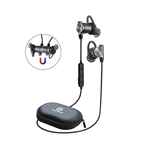 Wireless Bluetooth Earbuds | Forone Magnetic Headphones with Crystal Sound | IPX4 Waterproof Noise-Cancelling Headset with Mic | Fitness, Exercise, Running, Gym,Sports Image
