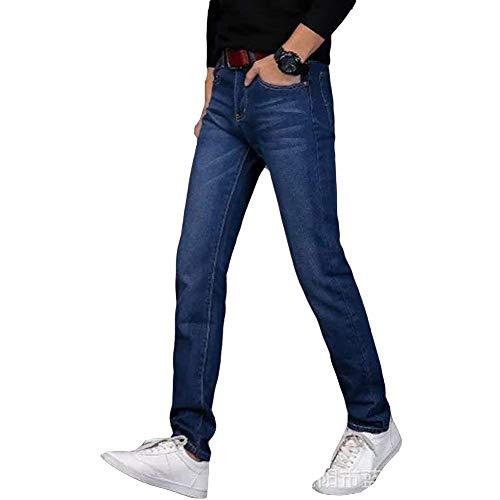 Dritti Jeans Stretch Casual Da Nero Chino Uomo Jogging Fit Pantaloni Slim Denim Moderna FCAzxwqFr