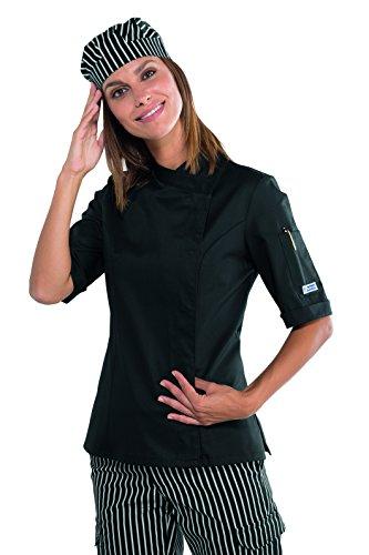 Nero Isacco Lady 190 Giacca Gr LungaBottoni AntipanicoTessuto BiancoS100CotoneManica 26085 Chef m² CdBxeo