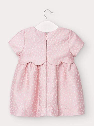 Details about  /Mayoral Gray Pink Dot Dress Boutique Lined Holiday Portrait 0-3 3-6 9 mth NWT