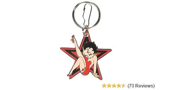 Plasticolor Betty Boop Star Enamel Key Chain 004143R01