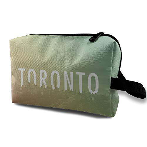 Toronto Cosmetic Bags Makeup Organizer Bag Pouch Zipper Purse Handbag Clutch Bag