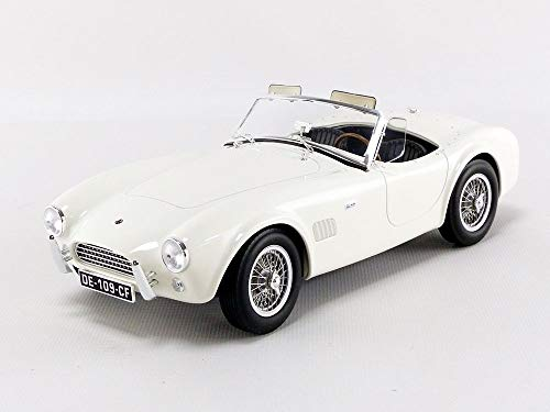 (Norev 1963 Shelby AC Cobra 289 Coupe White 1/18 Diecast Model Car 182752)