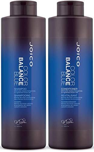 Joico Color Balance Blue Shampoo and Conditioner Set, 33.8-Ounce
