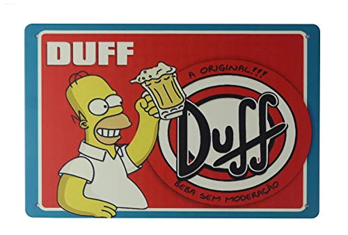 WholesaleSarong Simpsons Homer DUFF Beer tin Metal Sign Home Decor Stores Indoor Wall Arch Wall Decor