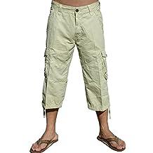 Mens Cargo Capri Shorts #A7CA