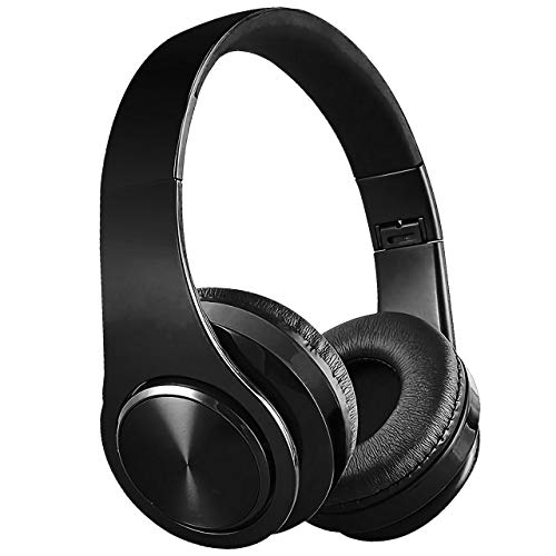 Wireless Headphones, HD Stereo Exercise Headset Built in Mic Passive Noise Cancelling Headphones 9-Hour Battery Play Time, Waterproof Over-Ear Earphones for Running Gym Hiking