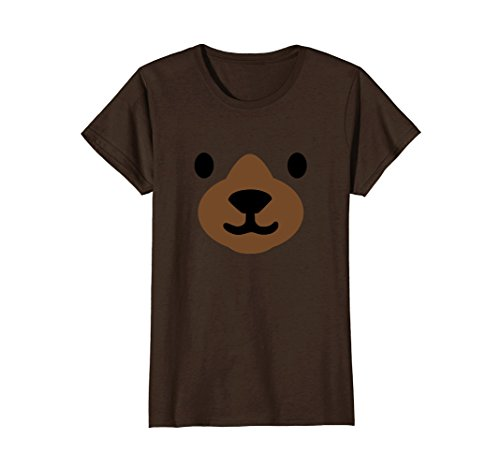 Womens Bear Face Halloween Costume Shirt Funny Easy for Kids Adults Large (90's Fashion For Women Costumes)
