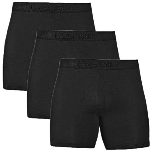 CLEVEDAUR Men's pureness Lenzing Micromodal Underwear PrimeMan Classics Boxer Briefs, Black-S (3-Pack) (Equip Briefs)