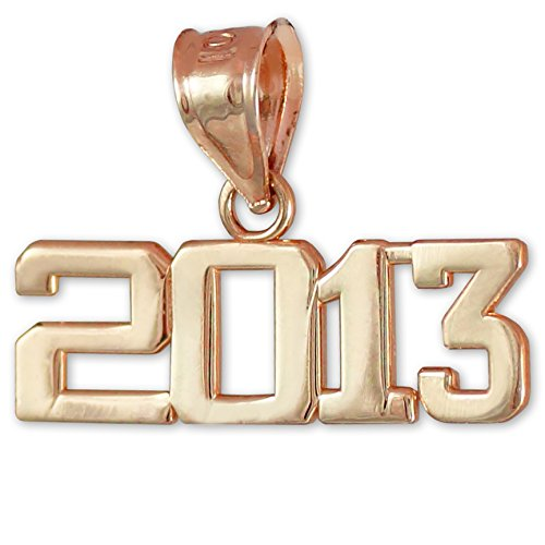 "10 ct 471/1000 Or Rose ""Classe de 2013""-Graduation - Pendentif"