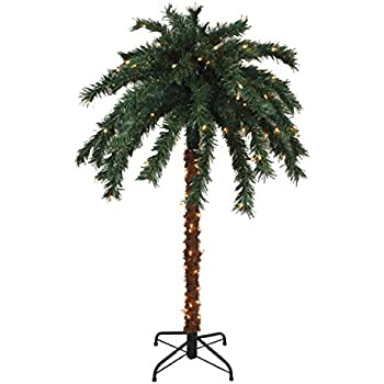 This Item 6u0027 Pre Lit Tropical Outdoor Summer Patio Palm Tree   Clear Lights