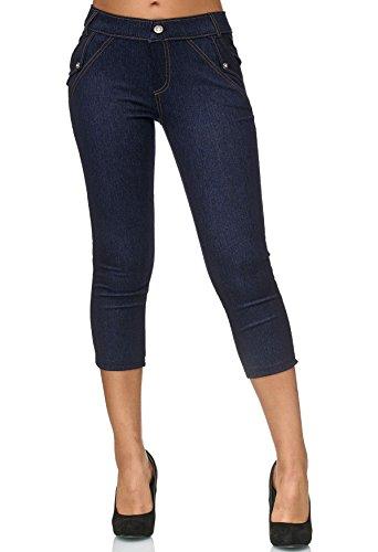 ArizonaShopping - Shorts Pantaloni donna Capri Pantaloncini Donne Capri Jeans D2421 Blu