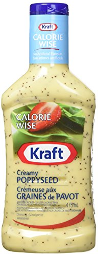 KRAFT Calorie Wise Poppy Seed Dressing, 10 Count, 475ML Each