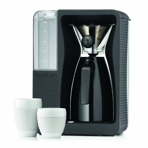 BODUM 11001-01US Bistro B. Over Automatic Pour-Over Electric Coffeemaker, 1.2-Liter
