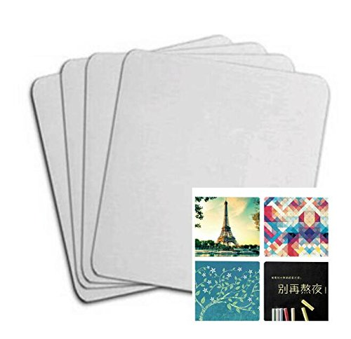 10pcs Blank Mouse Pad For Sublimation INK Transfer Heat Press Printing Crafts