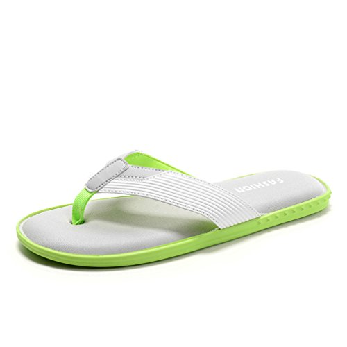 GEXKO Men's Summer Comfort Slippers,Beach Flip-Flop,Casual Sandals(8 - Rogers Corporate Stores