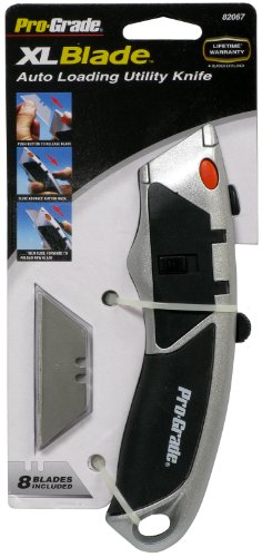 Allied Tools 82067 XL Blade Auto Loading Utility Knife with 8 Blades