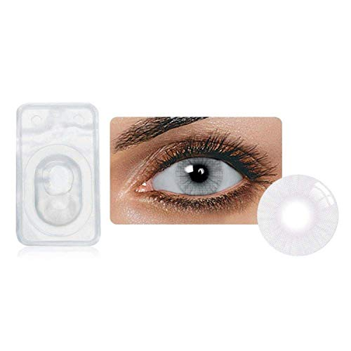 Multi-Color Attractive Fashion Cosplay Party Eyes Lenses A Pair with Case-(US Stock) - Icy -