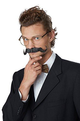 [California Costumes The Handlebar Moustache (Black/Gray)-Standard] (Moustache Halloween)