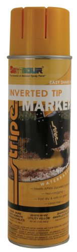 Seymour 20-678 Stripe Inverted Tip Marker, Utility Yellow