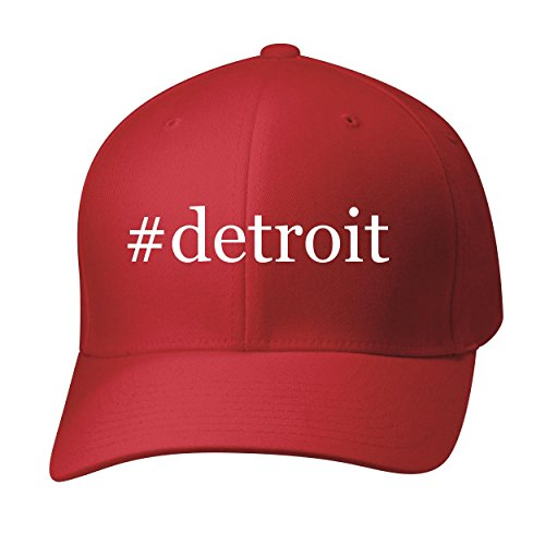 Bh Cool Designs  Detroit   Baseball Hat Cap Adult  Red  Large X Large