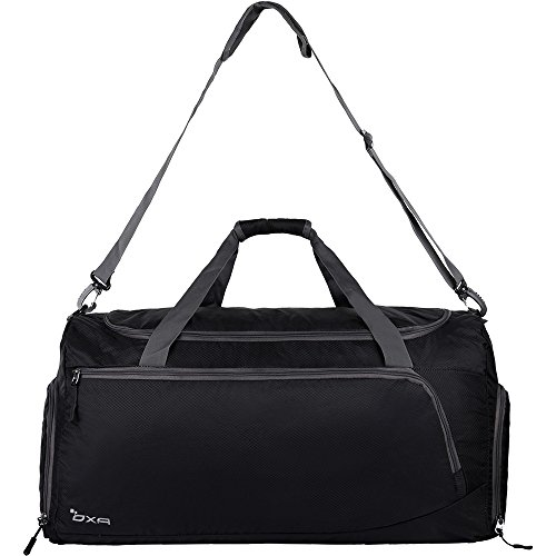 OXA Lightweight Foldable Travel Duffel Bag with Shoes Bag, - Foldable