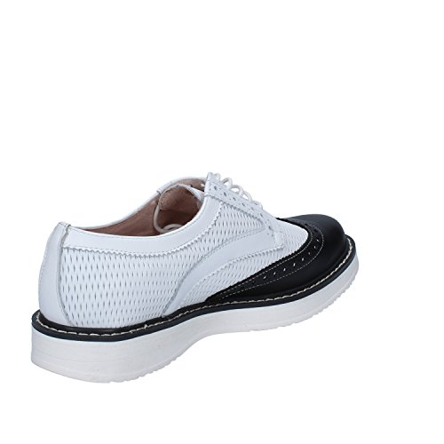 Blanco EU AH364 Cuero Zapatos Zapatos Elegantes 37 BRACCIALINI Negro Mujer xzOqP0I