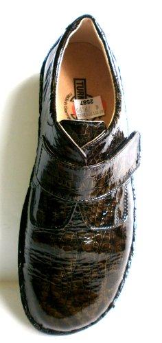 Velcro Tower Leather Cork Sandalette Sandal 44200 Shoe Soles Pantolette Women's nbsp;Croco Footbed Leather Moor Lining rqFBr4