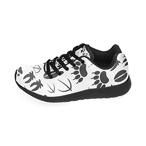 Lightweight Footprints On Animal Casual Print InterestPrint Running 6 Shoes Sneakers Women's Athletic Size 15 US 85qCxT