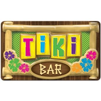 Tiki Bar Halloween Party (Beistle Large Plastic 3-D Tiki Bar Sign 12.5
