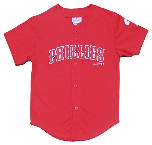 Outerstuff Philadelphia Phillies Blank Red Youth Player Fashion Jersey (Large 12/14) ()