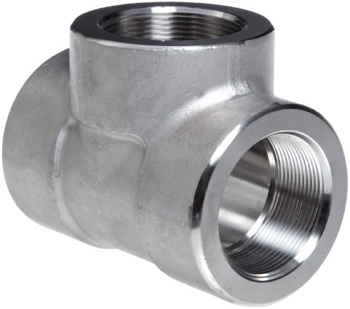 [304/304L Forged Stainless Steel Pipe Fitting, Tee, Class 3000, 1/4