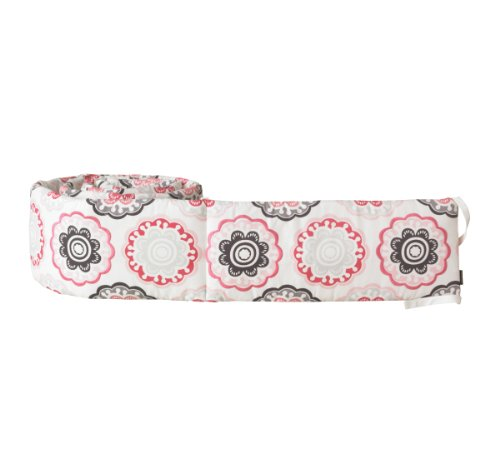 Dwellstudio Crib Bumper, Zinnia Rose
