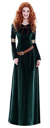 COSKING Princess Merida Costume for Women, Deluxe Halloween