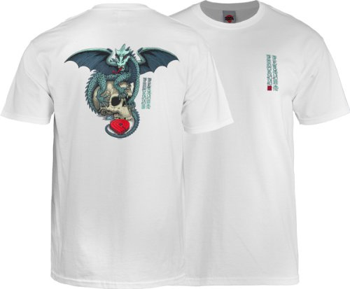 Powell Dragon Skull T-Shirt [Medium] White