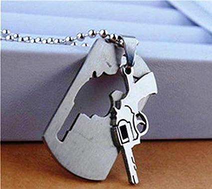 Amazon.com: FidgetKute Collar para Hombre Moda Acero ...