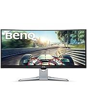 "BenQ EX3501R - Monitor Curvo Gaming de 35"" (Ultra WQHD 100 Hz HDR, 21:9, 3440 x 1440, Free-Sync, 1800R, HDMI, Display Port, USB-C) Color Negro y Gris"