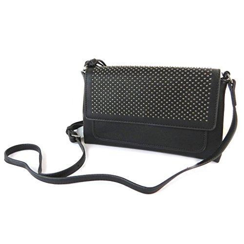 Bag designer 'Lulu Castagnette'costellata nero - 24x15x4 cm.
