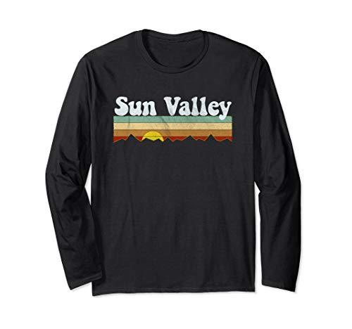 Retro Vintage Sun Valley Idaho Long Sleeve Shirt