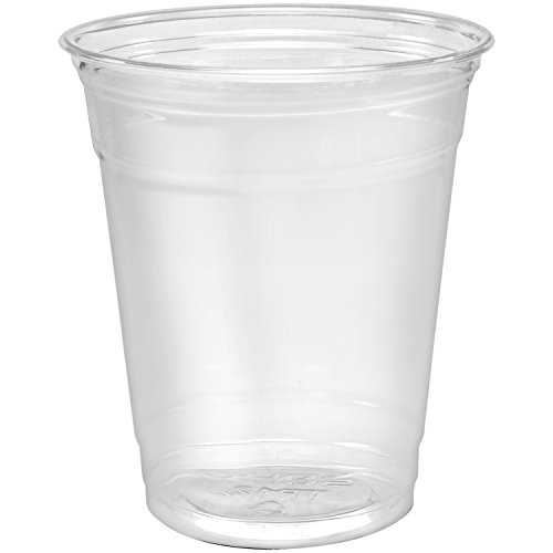 Disposable Plastic Cups 12 oz [100 Pack] Ultra Clear PET Drinking Cups, Perfect Use For Cold Drink, Party, Beer, Smoothies Premium Quality Tumblers Clear Cold Drinking Cup