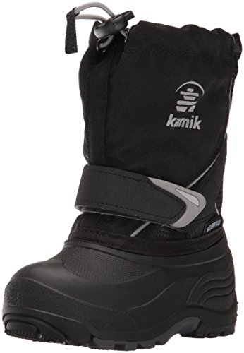 Kamik Boys' Sleet Snow Boot, Black/Charcoal, 9 Medium US Toddler