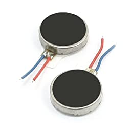 uxcell 2Pcs 10mm x 2.5mm Disc Shape Vibrating Vibration Motor for Cell Phone