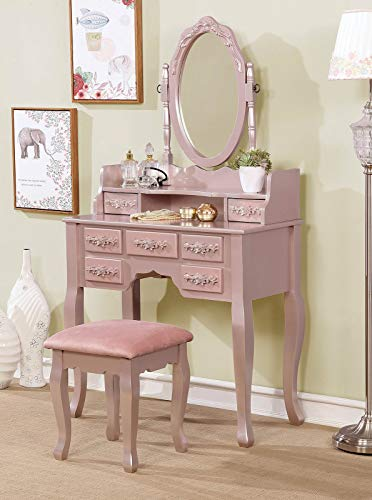 Inland Empire Furniture Pearlina Vanity with Stool