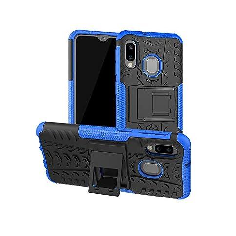 SWMGO® Firmness Smartphone Case with Kickstand for Samsung Galaxy A20e/Samsung Galaxy A10e(Blue) - 41Wvd5 f48L - SWMGO® Firmness Smartphone Case with Kickstand for Samsung Galaxy A20e/Samsung Galaxy A10e(Blue)