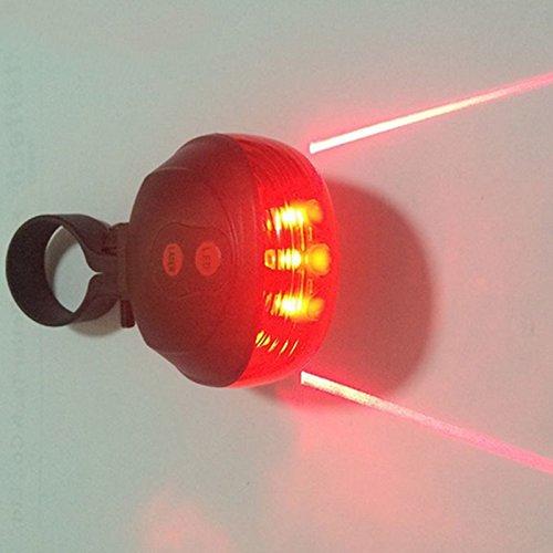 ZREAL rosso bicicletta posteriore di luce bicicletta in nbsp;LED posteriore bici rosso nbsp;luci di di notte LED 5 2 sicurezza avvertimento fuoco posteriore qEr15E