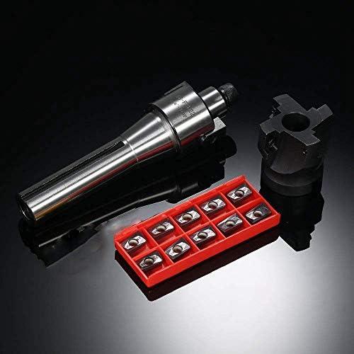 ZJN-JN Bohrer, 2 R8-FMB22 Shank Gesicht Shell Mühle Arbor + 400R 50MM CNC Fräser + 10pcs / Box APMT1604 Karbid-Einsätze + T15 Schraubwerkzeug CNC-Werkzeugmaschinen Schneiden Burs